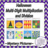 Halloween Multi-Digit Multiplication and Division Mystery