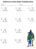 Halloween Multi-Digit Multiplication w/KID ART!