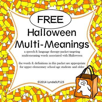 FREE: Halloween Multi-Meanings