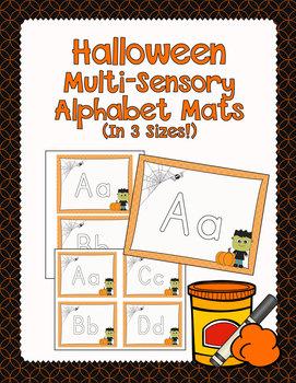Halloween Multi-Sensory Alphabet Mats for Play Dough and More!