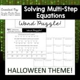 Halloween - Multi-Step Equation Word Puzzle