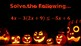 Halloween Multi-Step Equations & Inequalities Review