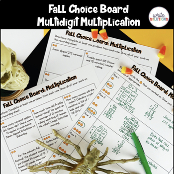 Halloween Multidigit Multiplication Activity
