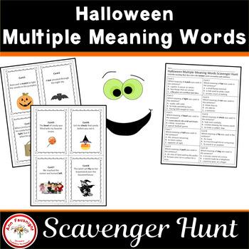 Halloween Multiple Meaning Scavenger Hunt