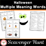 Halloween Multiple Meaning Scavenger Hunt