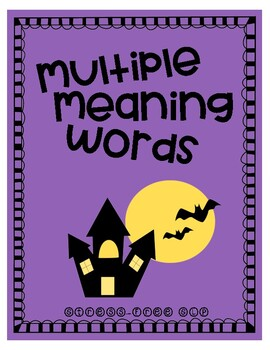 Halloween Multiple Meaning Words