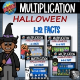 Halloween Multiplication 1-12 Fact Boom Cards™ Bundle