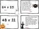 Halloween Multiplication 2 digit times 2 digit