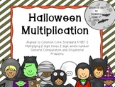 Halloween Multiplication 2 digit times 2 digit