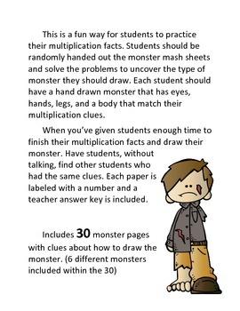 Halloween Multiplication Activity: Monster Mash
