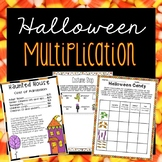 Halloween Multiplication Activities - 4th Grade