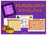 Math Centers Multiplication Activity Pack Halloween