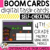 Halloween Multiplication Area Models Boom Cards