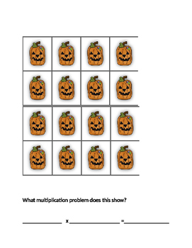 Halloween Multiplication Arrays