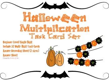 Halloween Multiplication Beginner/   Single-Digit