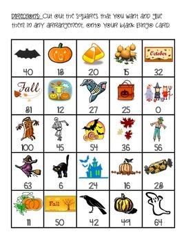 Halloween Multiplication Bingo