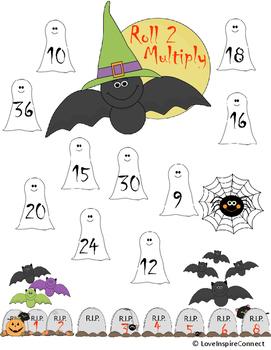 Halloween Multiplication Bump Game
