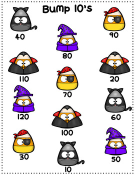 Halloween/October Multiplication Bump Games