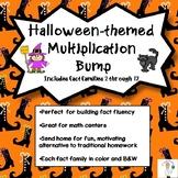 Halloween Multiplication Bump Games Fact Families 2 through 12