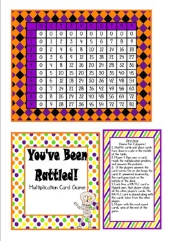 Halloween Multiplication Card Game (Basic Facts)