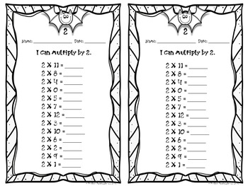 Halloween Multiplication Math Stations / Timed Tests