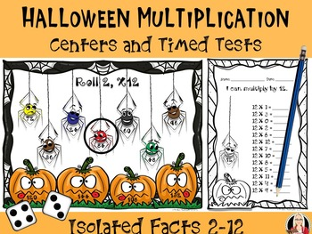 Halloween Multiplication Centers / Timed Tests
