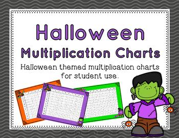 Halloween Multiplication Charts