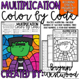 Halloween Multiplication Color by Code