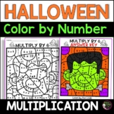 Halloween Multiplication Color by Number- 2's to 12's