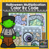 Halloween Multiplication Color by Number Code