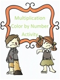 Halloween Multiplication Color by Numbers