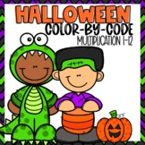 Halloween Multiplication Color-by-numbers
