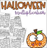 Halloween Multiplication Coloring