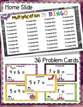 Halloween Multiplication Digital Bingo