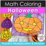 Halloween Multiplication & Division Coloring Pages
