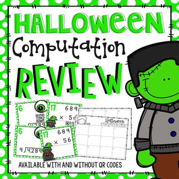 Halloween Multiplication & Division Computation Review