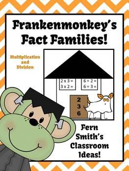 Halloween Multiplication Division Fact Families Center Gam