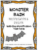 Multi-Step Multiplication & Division Word Problems | Halloween Theme