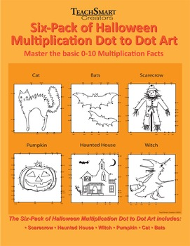 Halloween Multiplication Dot to Dot Art