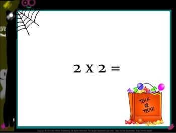 Halloween Multiplication Fact Practice 3.OA.C.7, 4th, 5th