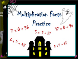 Halloween Multiplication Fact Practice 3.OA.C.7, 4th, 5th