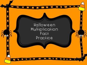 Halloween Multiplication Fact Practice (NO PREP)