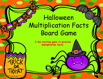 Halloween Multiplication Facts Board Game