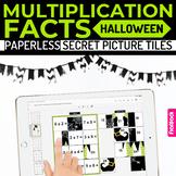 Halloween Multiplication Facts Paperless Google Slides PPT Secret Picture Tiles