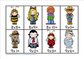 Halloween Multiplication Facts Race