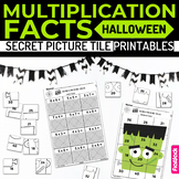 Halloween Multiplication Facts Secret Picture Tile Printables
