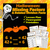 Halloween Multiplication: Finding Missing Factors & Related Facts