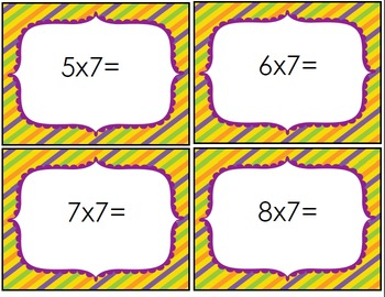 Halloween Multiplication Flash Cards