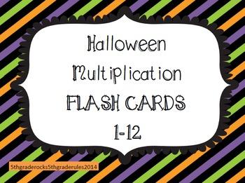 Halloween Multiplication Flash Cards