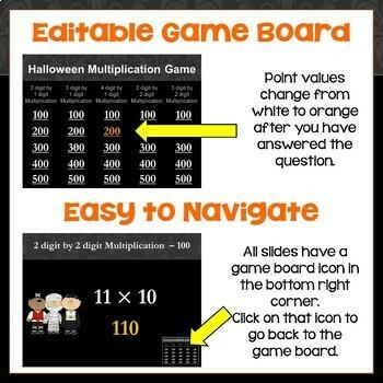 Halloween Multi Digit Multiplication Game